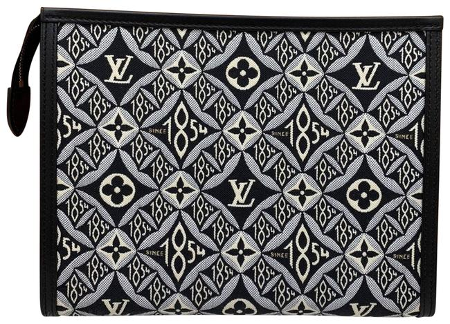 Item - Toiletry Pouch Since 1854 Cosmetic Black Jacquard Clutch