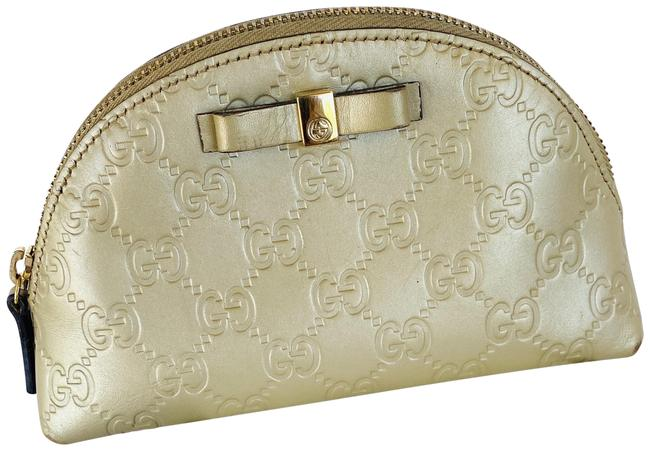 Item - Gold Micro-guccissima Pouch Cosmetic Bag