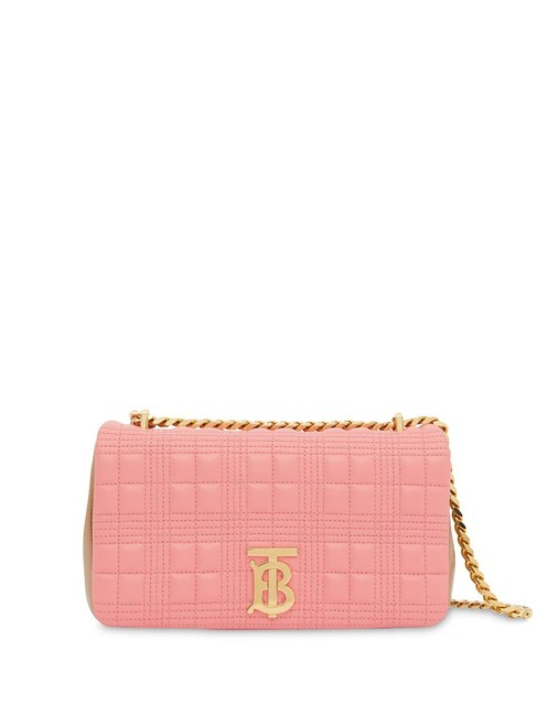 Item - Ladies Small Quilted Two-tone Lambskin Lola Pink Leather Shoulder Bag