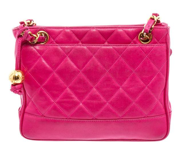 Item - Bag Vintage Pink Quilted Leather Tote