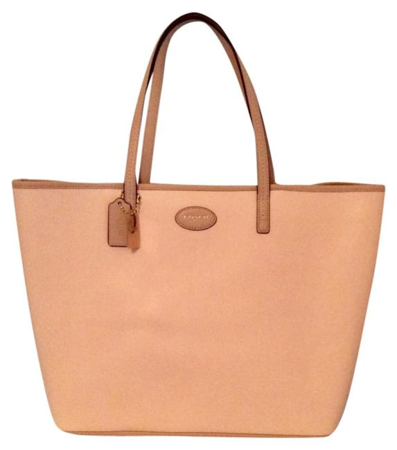Item - Sale - Metro In Crossgrain Peach Bisque Leather Tote