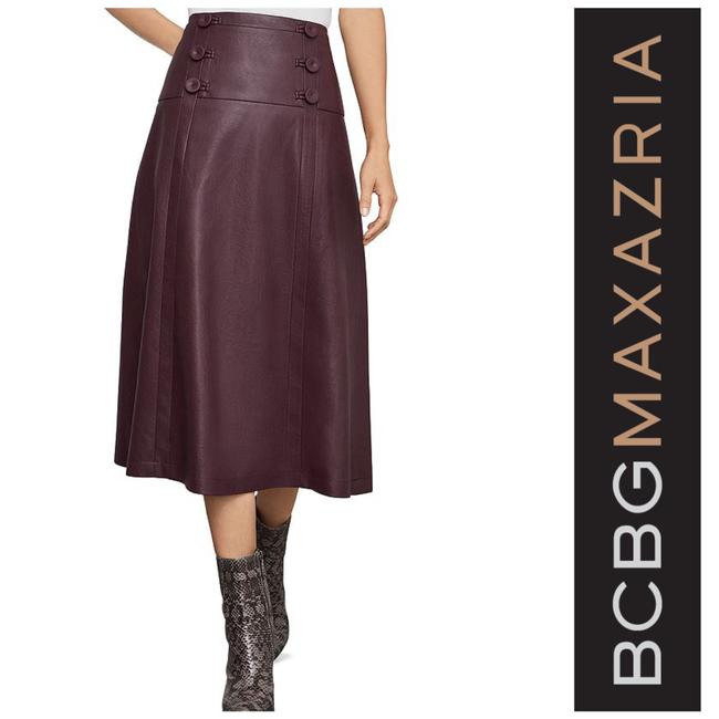 Item - Maroon New Faux Leather Skirt Size 8 (M, 29, 30)