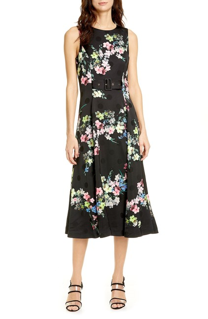 Ted Baker Black/Multi with Tag Camylle Pergola Midi Mid-length Cocktail Dress Size 6 (S) Ted Baker Black/Multi with Tag Camylle Pergola Midi Mid-length Cocktail Dress Size 6 (S) Image 1