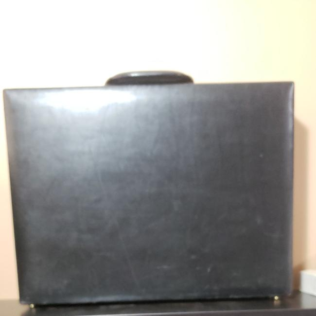 Item - Vintage Briefcase In with Peanut Butter Lining Black Leather Laptop Bag