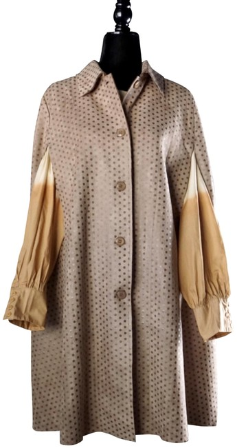 Item - Light Brown Gina Longline Sueded Jacket New M Poncho/Cape Size 10 (M)