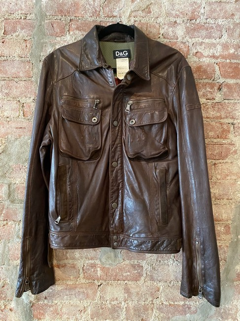 Item - Brown Iconic Jacket Size 12 (L)
