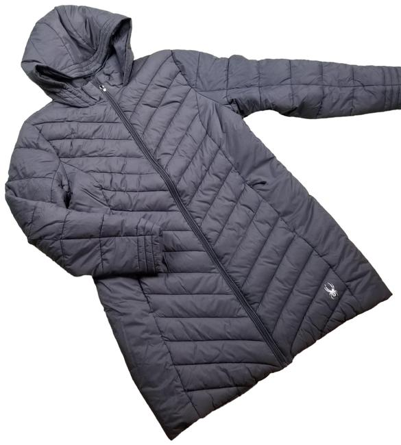 Item - Grey Water Resistant Boundless Hooded Puffer Jacket Coat Size 12 (L)