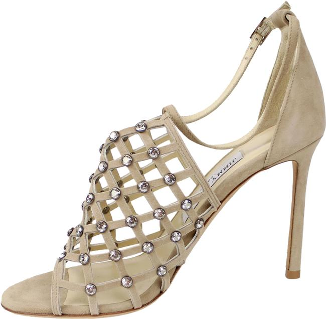 Item - Nude Crystal Caged Sandal Formal Shoes Size EU 37.5 (Approx. US 7.5) Regular (M, B)