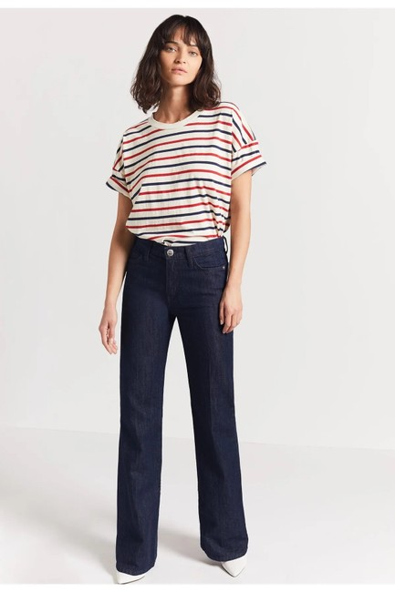 Current/Elliott Dark Wash Rinse The Jarvis Bootcut Trouser/Wide Leg Jeans Size 4 (S, 27) Current/Elliott Dark Wash Rinse The Jarvis Bootcut Trouser/Wide Leg Jeans Size 4 (S, 27) Image 2