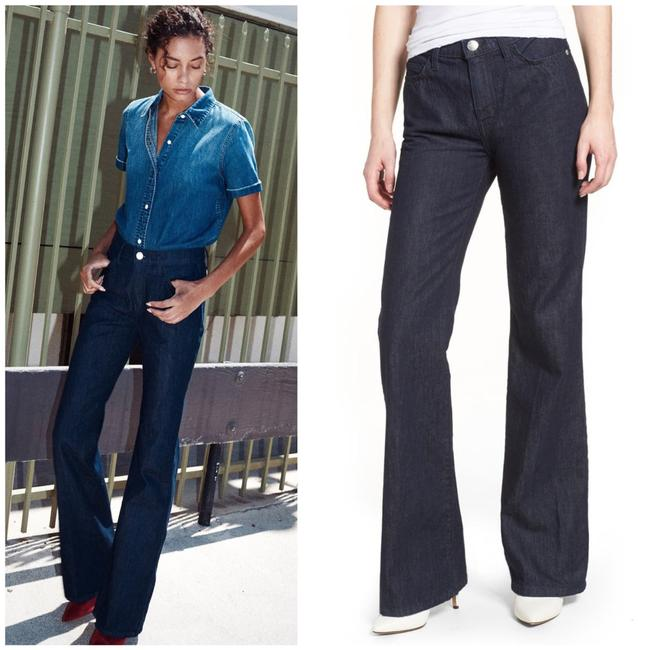 Current/Elliott Dark Wash Rinse The Jarvis Bootcut Trouser/Wide Leg Jeans Size 4 (S, 27) Current/Elliott Dark Wash Rinse The Jarvis Bootcut Trouser/Wide Leg Jeans Size 4 (S, 27) Image 4