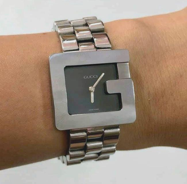 """Gucci Silver """"G"""" 3600j Butterfly Clasp Link Watch Gucci Silver """"G"""" 3600j Butterfly Clasp Link Watch Image 9"""