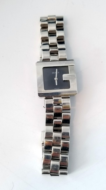 """Gucci Silver """"G"""" 3600j Butterfly Clasp Link Watch Gucci Silver """"G"""" 3600j Butterfly Clasp Link Watch Image 2"""