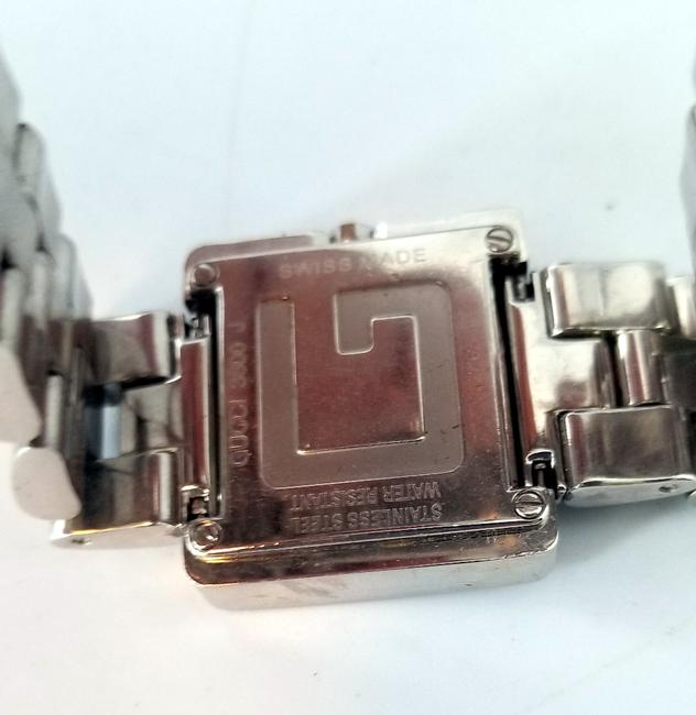 """Gucci Silver """"G"""" 3600j Butterfly Clasp Link Watch Gucci Silver """"G"""" 3600j Butterfly Clasp Link Watch Image 8"""