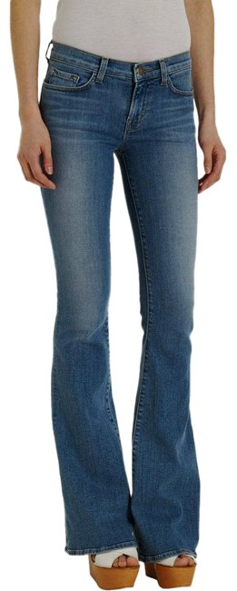 Item - Blue Light Wash 823 Bell Bottom Mid-rise Icicle 27-4 Boyfriend Cut Jeans Size 27 (4, S)