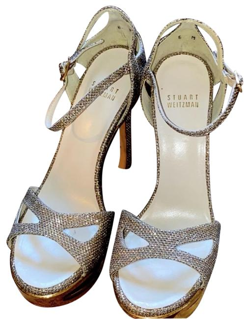 Item - Silver & Gold Sparkly Heels Formal Shoes Size US 6 Narrow (Aa, N)
