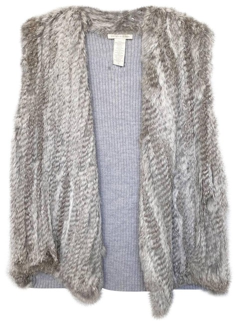 Item - Gray Rabbit Fur Wool Small Activewear Outerwear Size 4 (S)