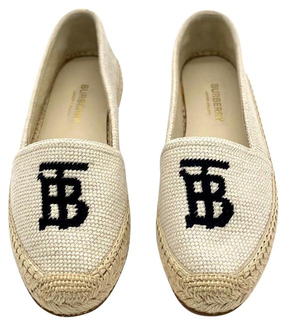 Item - Offwhite Tabitha Embroidered Espadrilles In and Black Cotton In Neutrals Flats Size EU 37 (Approx. US 7) Regular (M, B)