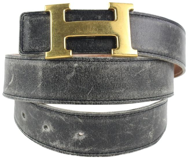 Item - Black 32mm Reversible H Logo Kit X Gold 44her422 Belt