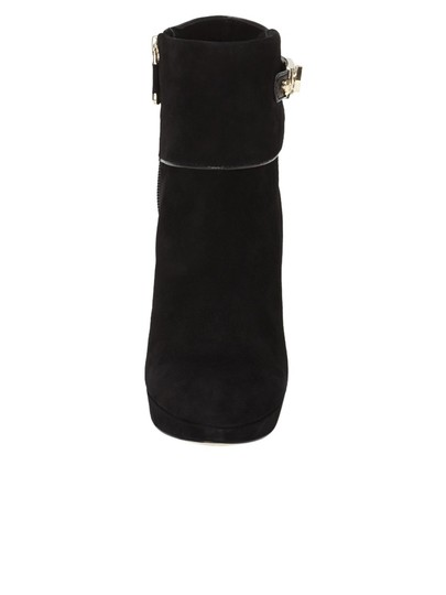Vince Camuto Ankle Suede Italian Suede Black Boots
