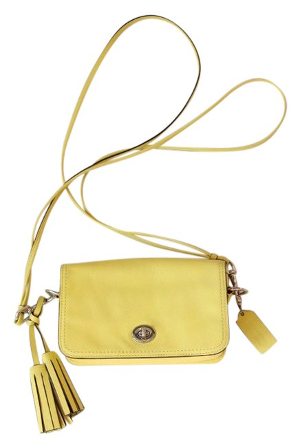 Item - Penny Legacy Yellow Leather Cross Body Bag