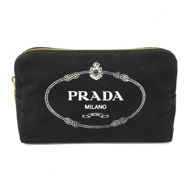 Item - Accessory Pouch Ladies 1na693 Black Canvas Clutch