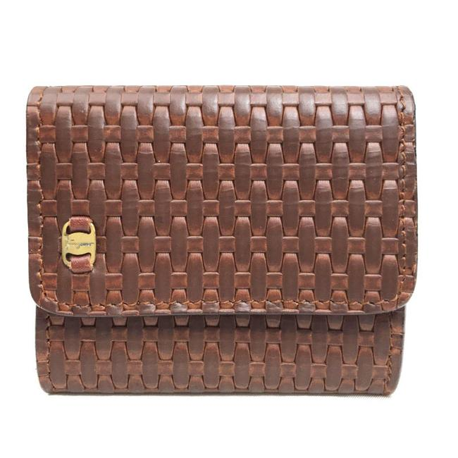 Item - Brown Coin Purse Leather Gold Hardware Men's Women's Wallet