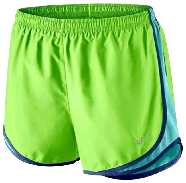 Item - Lime Green/Blue Tempo Dri-fit Running Activewear Bottoms Size 0 (XS, 25)