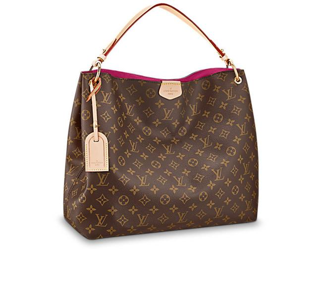 Item - Graceful Rare Mm In Pink Lining Brown Monogram Canvas Hobo Bag