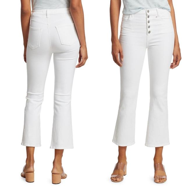Item - White Light Wash Lillie High-rise Crop Flare Leg Jeans Size 24 (0, XS)