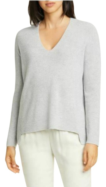 Item - Boxy Shimmer Wool Blend Shimmer Grey Silver Sweater