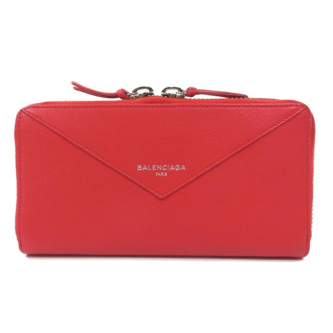 Item - Red Color 381226 Paper Continental Calf Ladies Wallet