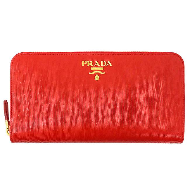 Item - Red Color Long Zipper Leather Ladies 1ml506 Wallet