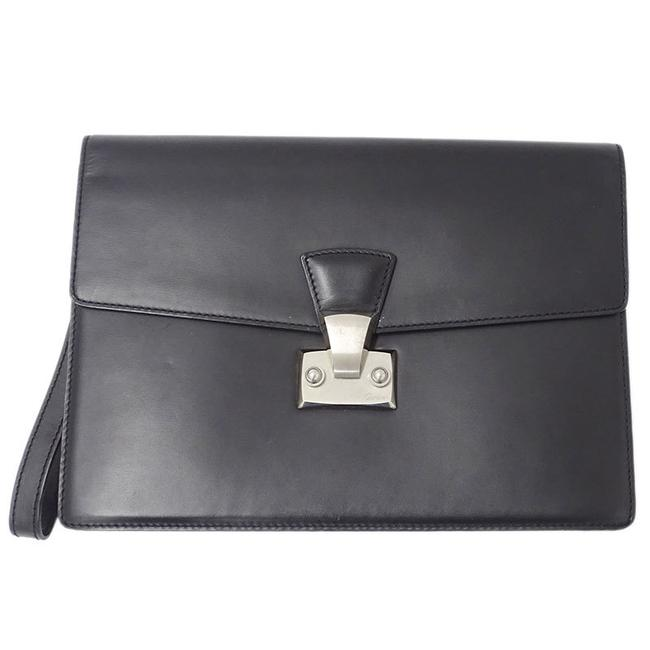Item - Pasha Second Men's L1000230 Black Leather Clutch