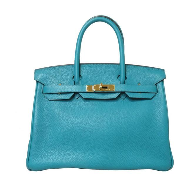 Item - Birkin 30 Handbags Women's Veil Veron Green Taurillon Clemence Leather Satchel