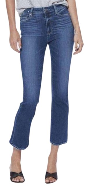 Item - Blue Dark Rinse Claudine High Ankle Wash Womens Capri/Cropped Jeans Size 30 (6, M)