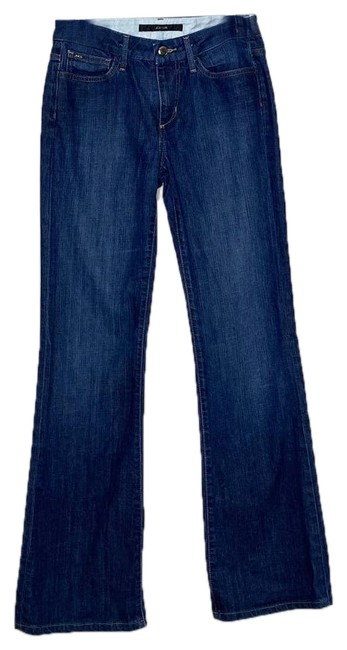 Item - Blue Dark Rinse Muse Fit Boot Cut Jeans Size 26 (2, XS)