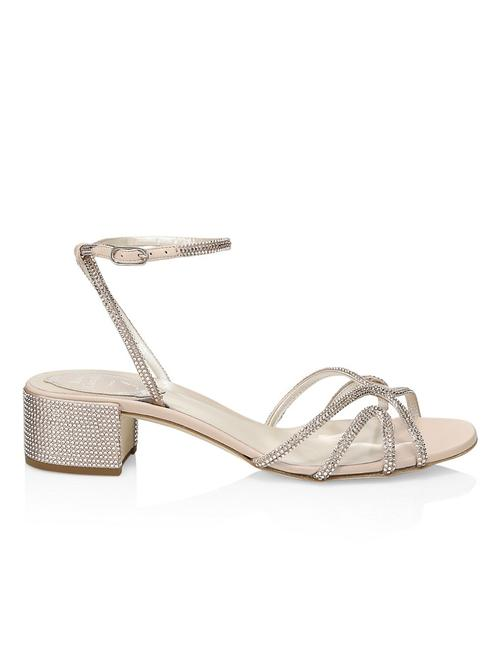 Item - Nude Ankle Crystal Embellished Sandals Size EU 37.5 (Approx. US 7.5) Regular (M, B)