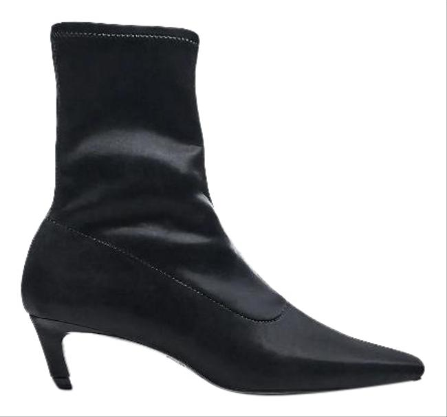 Item - Black Stretchy Kitten Heel Ankle 3124/610 Boots/Booties Size US 8 Regular (M, B)