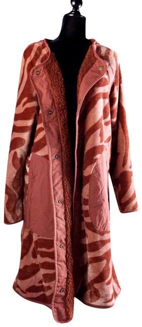 Item - Rust Red L Zandra Sherpa Reversible Coat Size 14 (L)