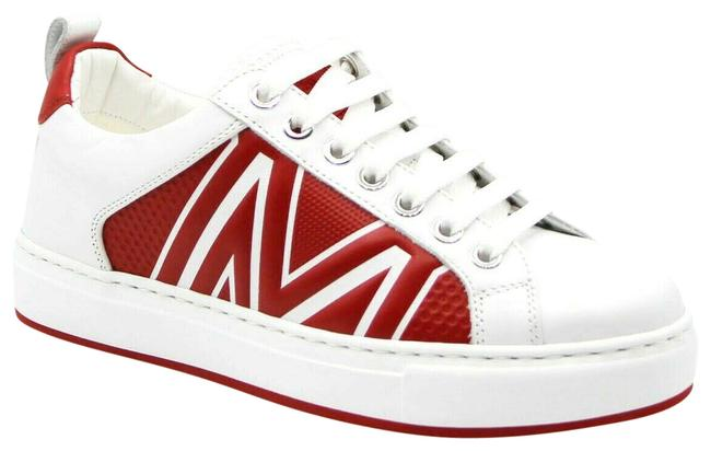 Item - White/Red Leather Logo Low-top 37/Us Mes9ara73wt Sneakers Size US 7 Regular (M, B)