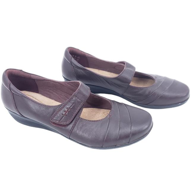 Item - Purple Everlay Kennon Mary Jane Low Wedge Heel Comfort Leather 8w Mules/Slides Size US 8 Wide (C, D)