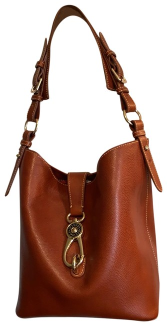 Item - And Chestnut Genuine Leather with Brass Fittings Hobo Bag