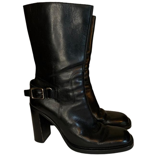 Item - Black Heeled Leather Boots/Booties Size EU 38.5 (Approx. US 8.5) Regular (M, B)