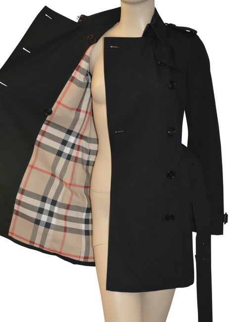 Item - Black Harbourne Double Breasted Coat Size 2 (XS)