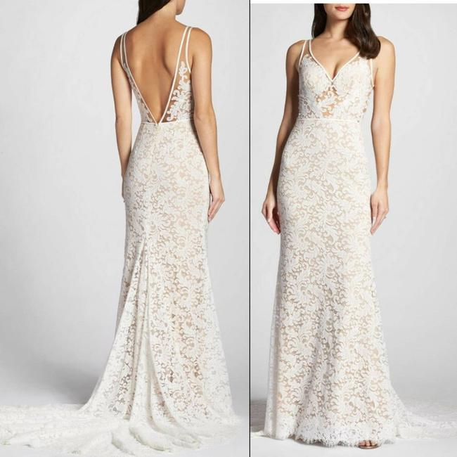 """Item - White Willowby Waters """"Derica"""" Lace Formal Wedding Dress Size 12 (L)"""
