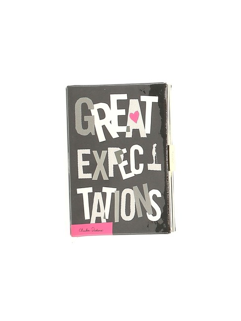 Item - Great Expectations Book Black Leather Clutch