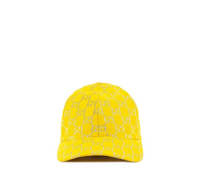 Item - Yellow Gg Lamé Baseball In Size S Hat