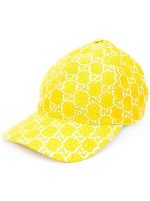 Gucci Yellow Gg Lamé Baseball In Size S Hat Gucci Yellow Gg Lamé Baseball In Size S Hat Image 2