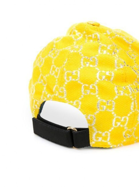 Gucci Yellow Gg Lamé Baseball In Size S Hat Gucci Yellow Gg Lamé Baseball In Size S Hat Image 3