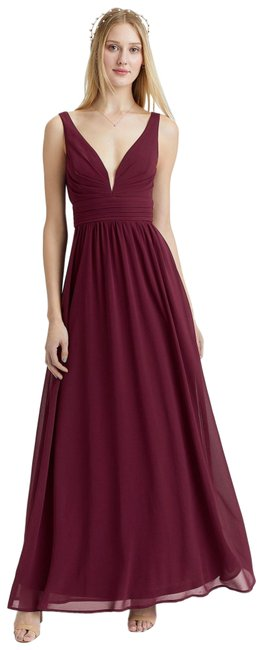 Item - Red Leading Role Burgundy Maxi Formal Dress Size 4 (S)
